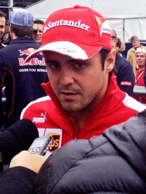 "Felipe Massa doing an impression of Robert Di Nero's famous line ""You talkiin' to me?"", in Taxi Driver"