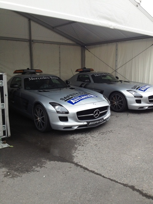 Both Pace cars, such lovely beasts get thrashed around by F1's luckiest man Bernd Maylander